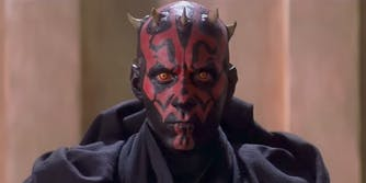 darth maul in star wars phantom menace
