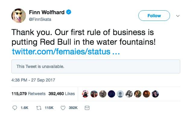 finn wolfhard twitter