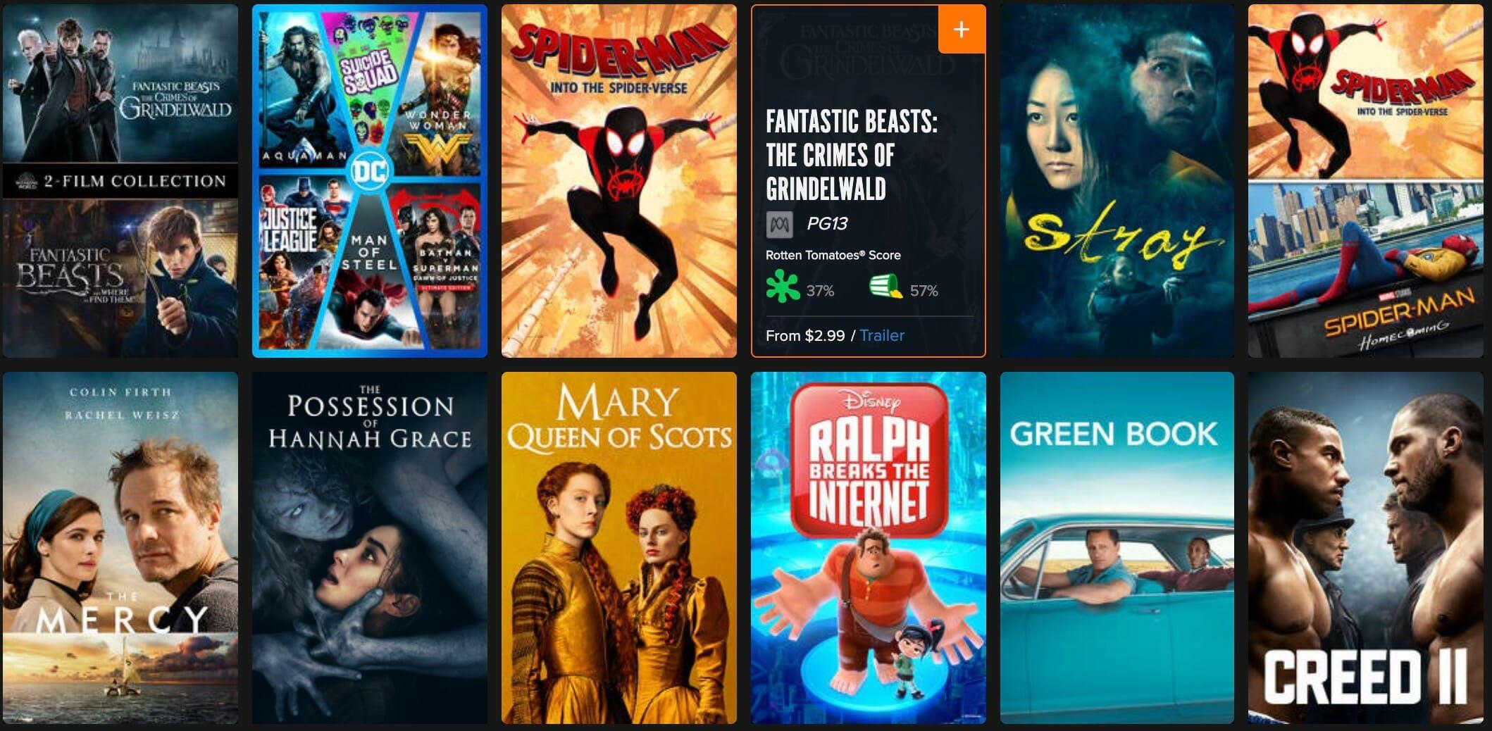 fandango now 4k movie rentals