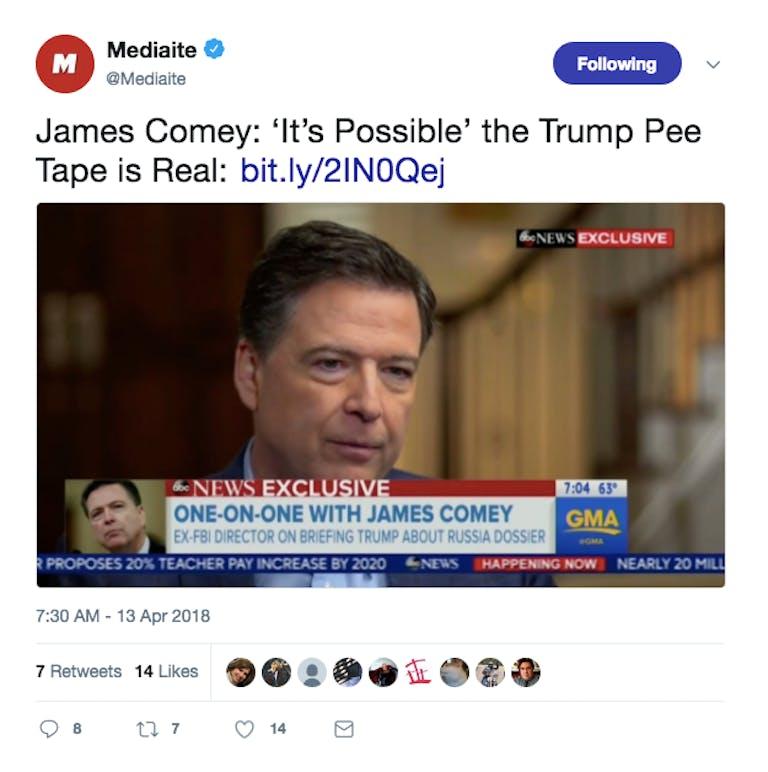 trump pee tape