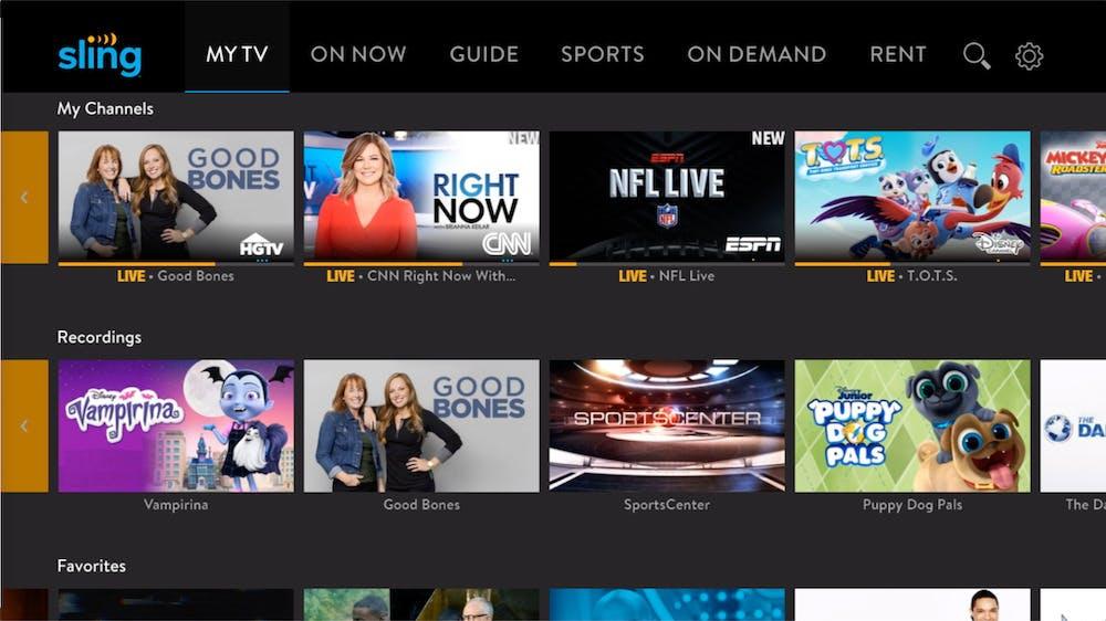 watch live tv apple tv - sling tv