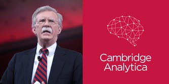 The political action committee founded by President Donald Trump's new national security adviser John Bolton hired Cambridge Analytica months after it reportedly harvested data on more than 50 million Facebook users without their knowledge.