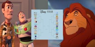 Disney Vs Pixar Bracket Meme