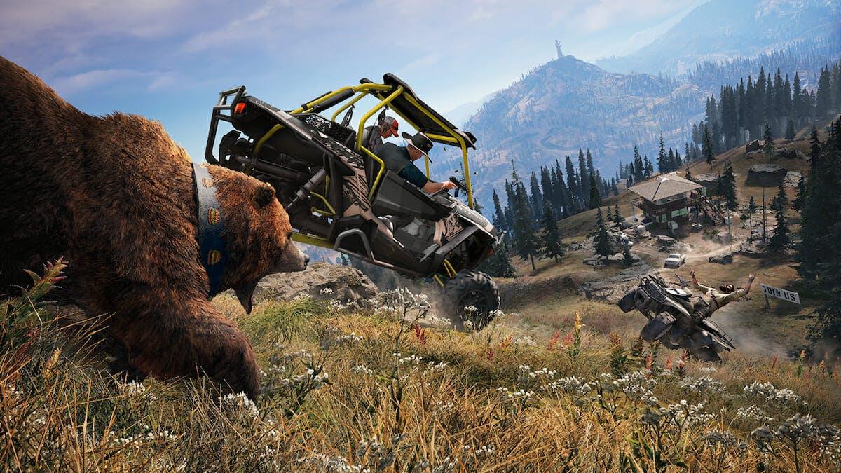 far cry 5 : bear attacking