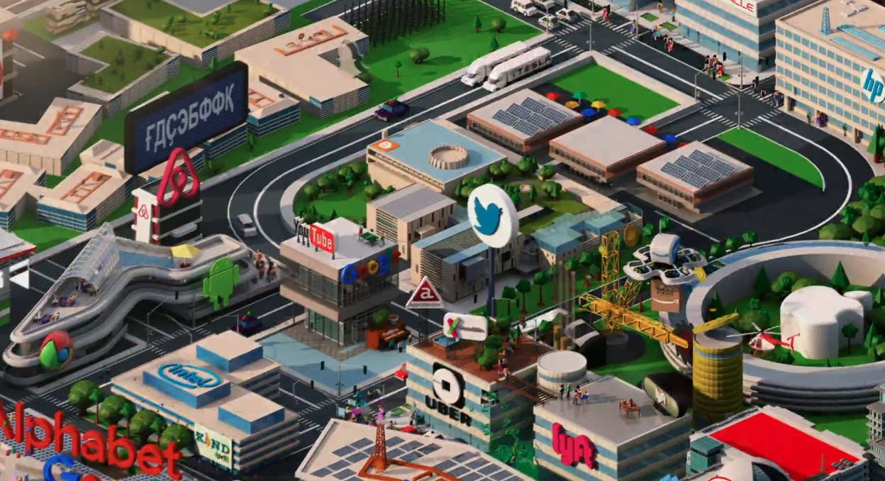 silicon valley intro takes a jab at facebook