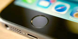 apple iphone touch id fingerprint sensor