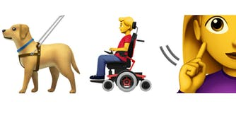 Apple has proposed emoji that represent people with disabilities.