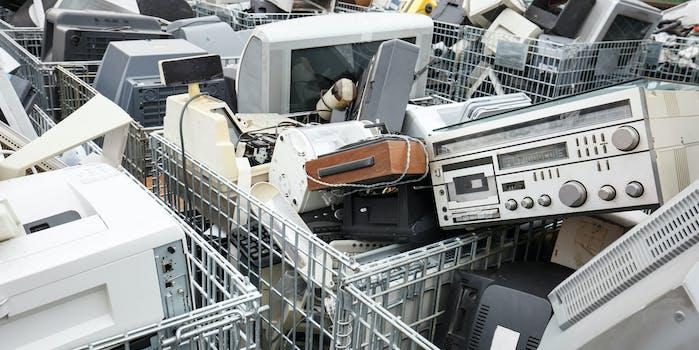 e-waste smartphones landfill computer global warming