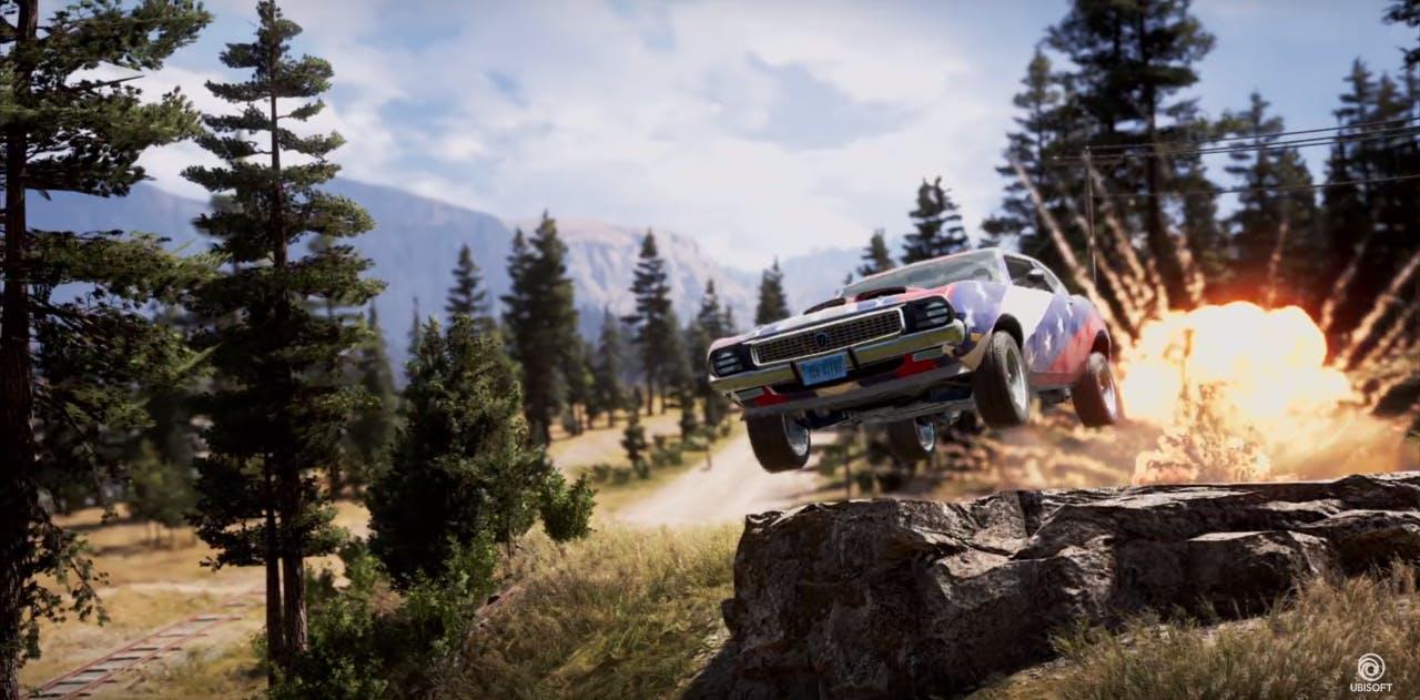 far cry 5 : car jumping rocks