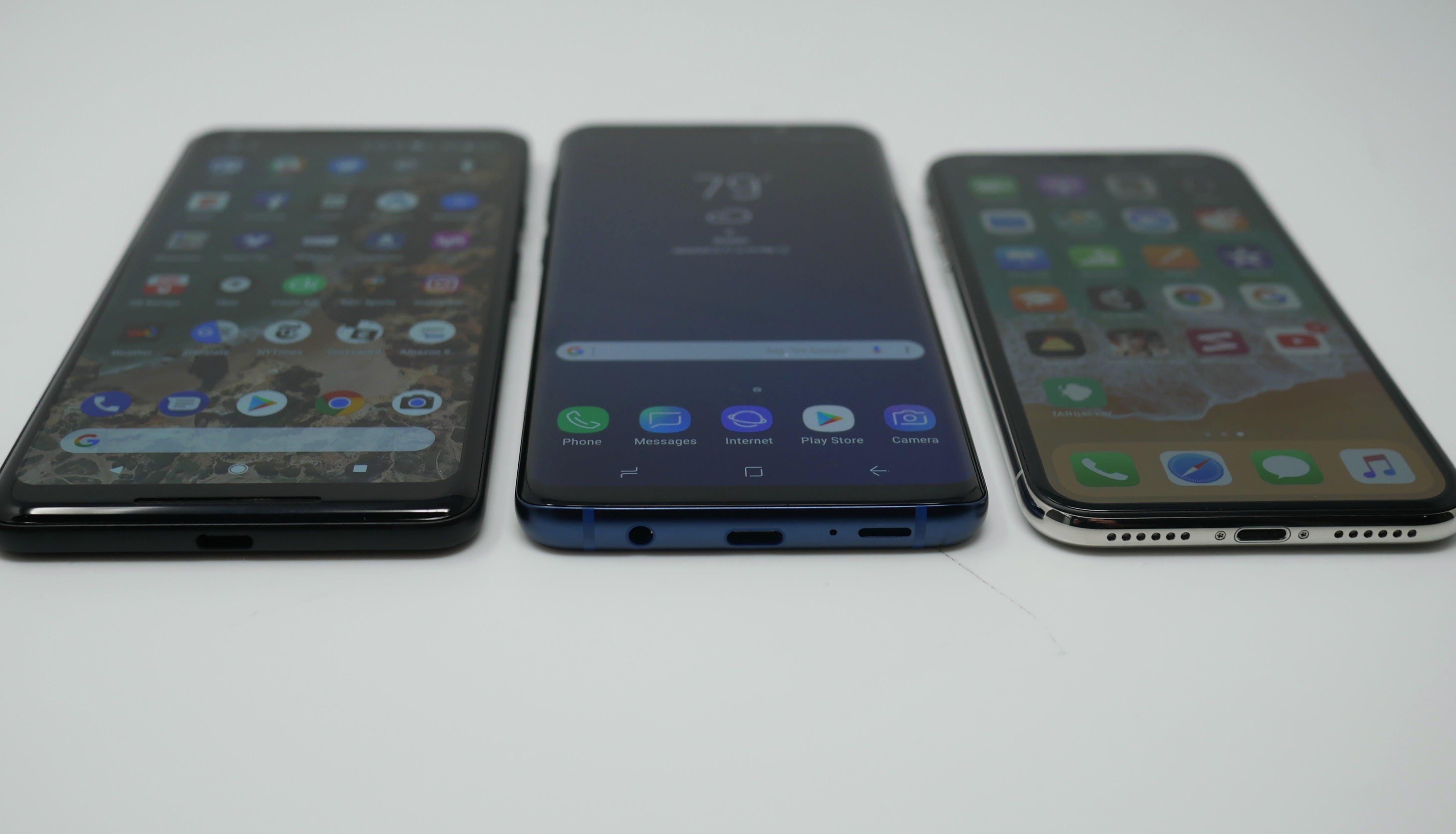 samsung galaxy s9 vs iphone x vs google pixel 2 xl