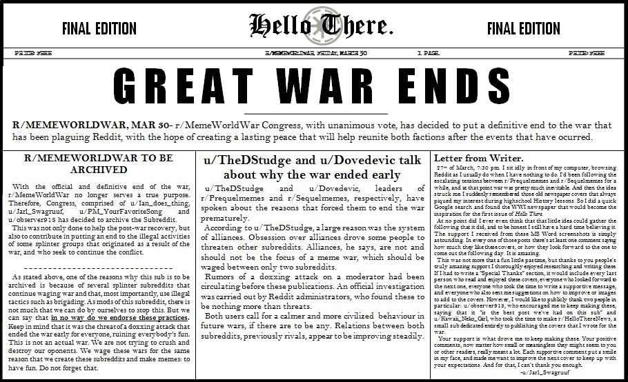 great meme war ends newspaper page