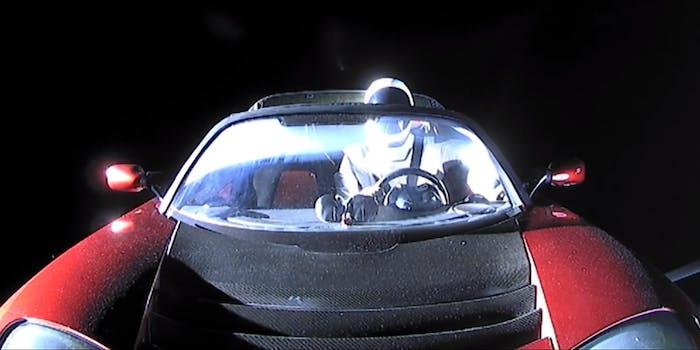 Starman in Tesla Roadster, SpaceX livestream