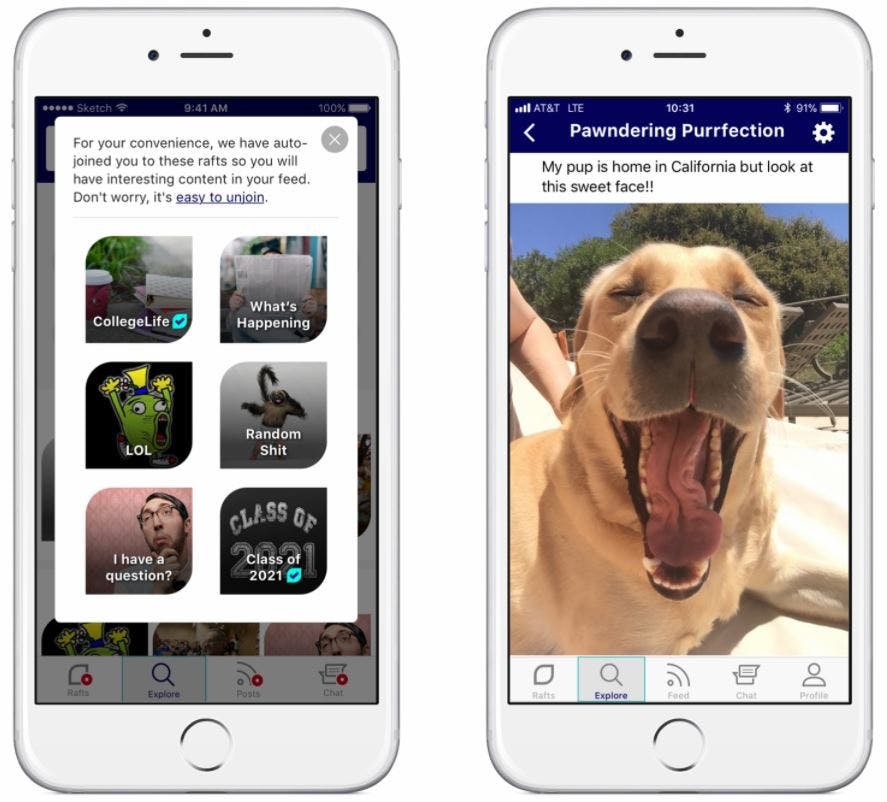 facebook alternatives - raftr app social media