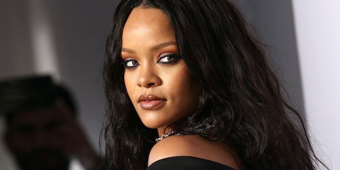 Rihanna looking over her shoulder