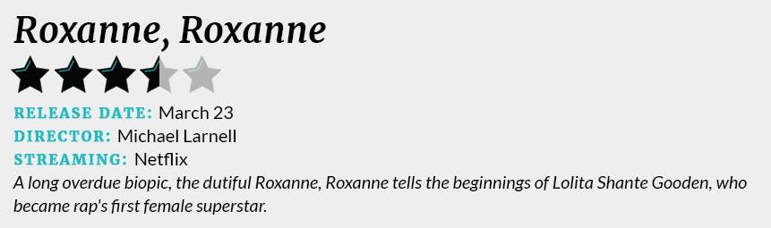 Roxanne, Roxanne review box