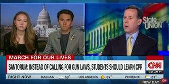 Parkland teens David and Lauren Hogg explained to Rick Santorum that CPR won't save someone from a gunshot to the head.
