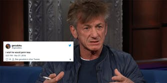 Twitter is dragging Sean Penn over a passage from his novel 'Bob Honey Who Just Do Stuff.'