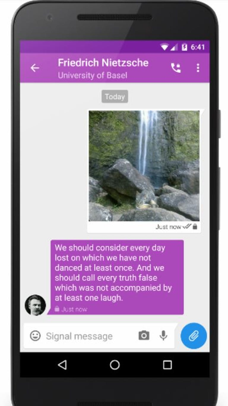 facebook alternatives - signal encrypted messaging app social media