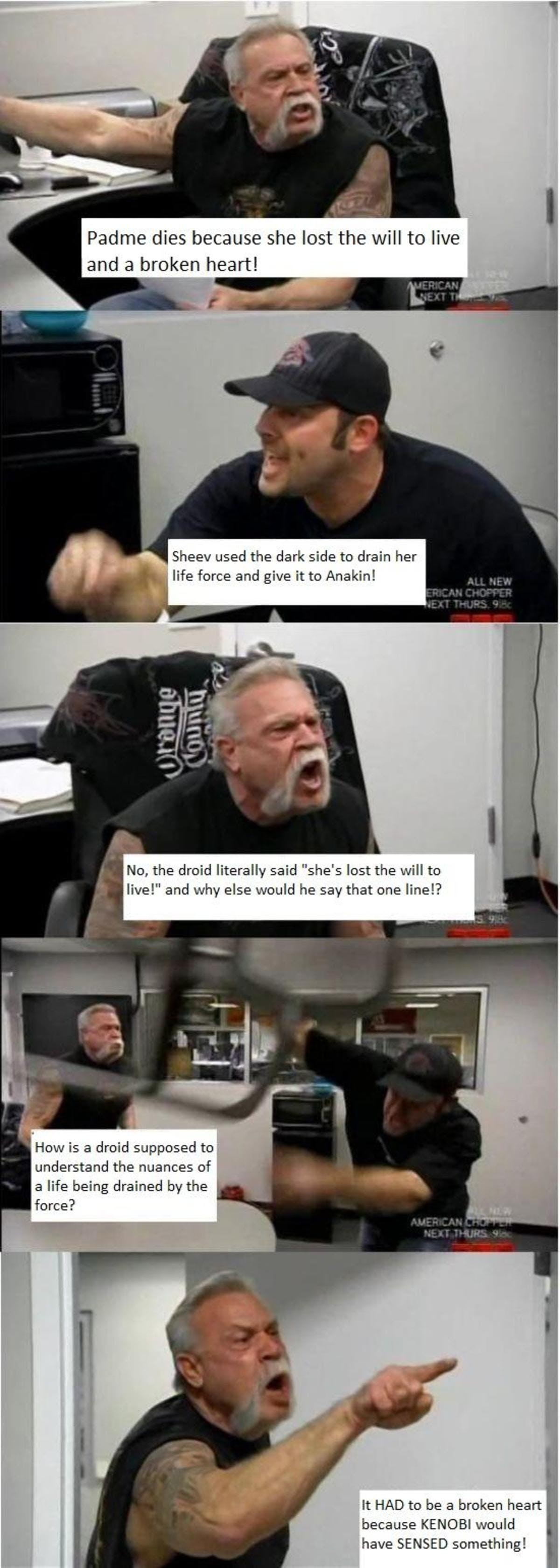 padme star wars american chopper meme