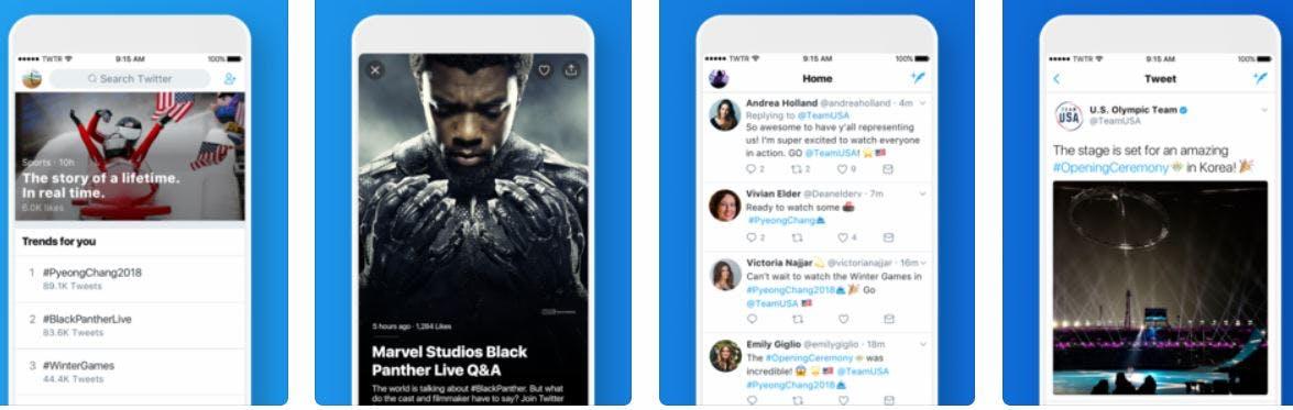facebook alternatives - twitter social media app interface