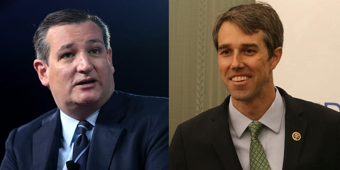 Sen. Ted Cruz (R-Tx.) may be looking at a tight race against Democratic challenger Beto O'Rourke later this year, a new poll suggests.
