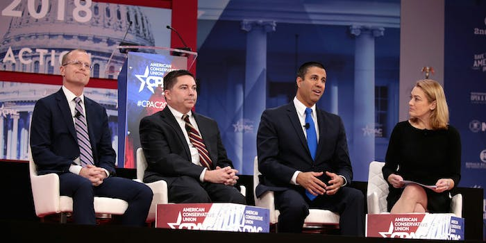 The top lawyer at the Federal Communications Commission (FCC) said that the Republican commissioners who appeared at this year's Conservative Political Action Conference (CPAC) did not violate ethics rules.