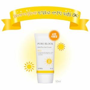 A'Pieu Pure Block Natural Korean Sun Cream