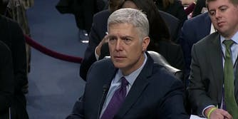Neil Gorsuch at his confirmation hearing for U.S. Supreme Court