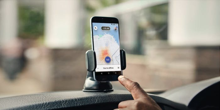 New Uber Driver App on Android Phone