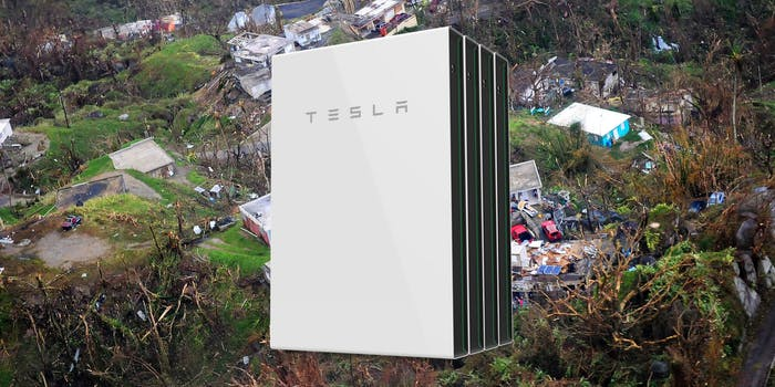Tesla energy helps Puerto Rico get power