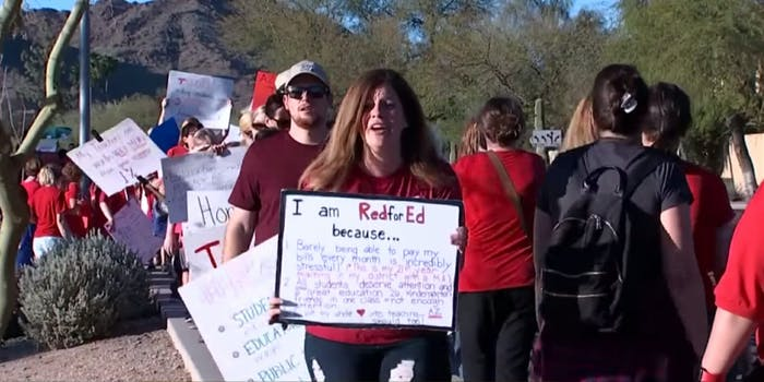Arizona educators voted to strike next week for better education funding.