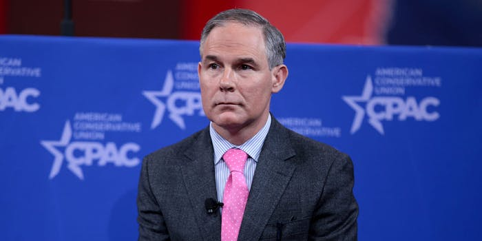 EPA Administrator Scott Pruitt is facing pressure from 170 members of Congress to resign.