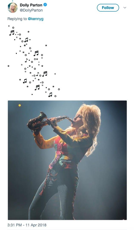 Dolly Parton Kenny G Tweet Stars Meme