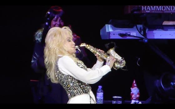 Dolly Parton Saxophone