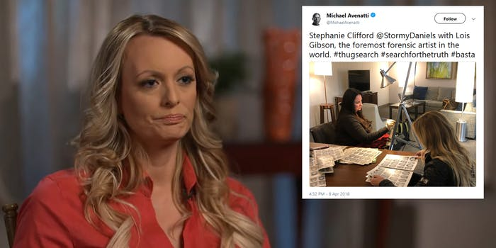 Stormy Daniels's lawyer, Michael Avenatti, said they will be releasing a forensic sketch of the person they said threatened her after speaking about Donald Trump.