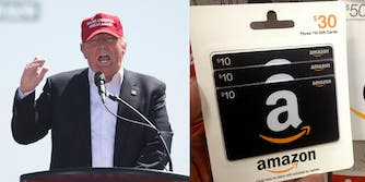 President Donald Trump continues to attack Amazon on Twitter, with one report suggesting that the president wants to 'fu** with' Jeff Bezos, the online retailer's founder.