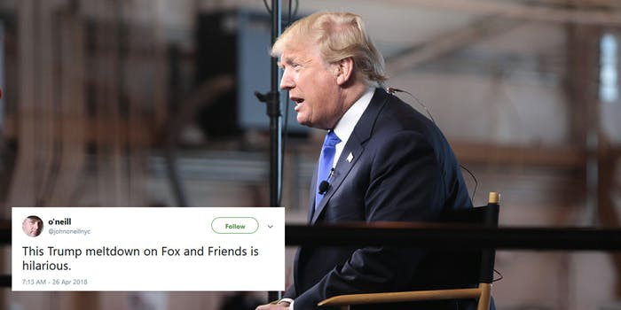 The internet had a lot to say about President Donald Trump's interview on Fox & Friends on Thursday morning.