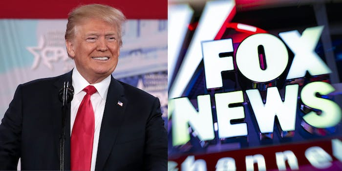 A clip put together by CNN's 'Reliable Sources' shows just how much President Donald Trump repeats talking points said by Fox News hosts such as Sean Hannity and Tucker Carlson.