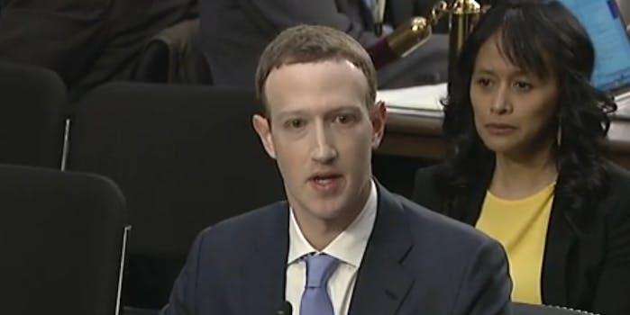Facebook CEO Mark Zuckerberg testified before the Senate Judiciary Committee on Tuesday.