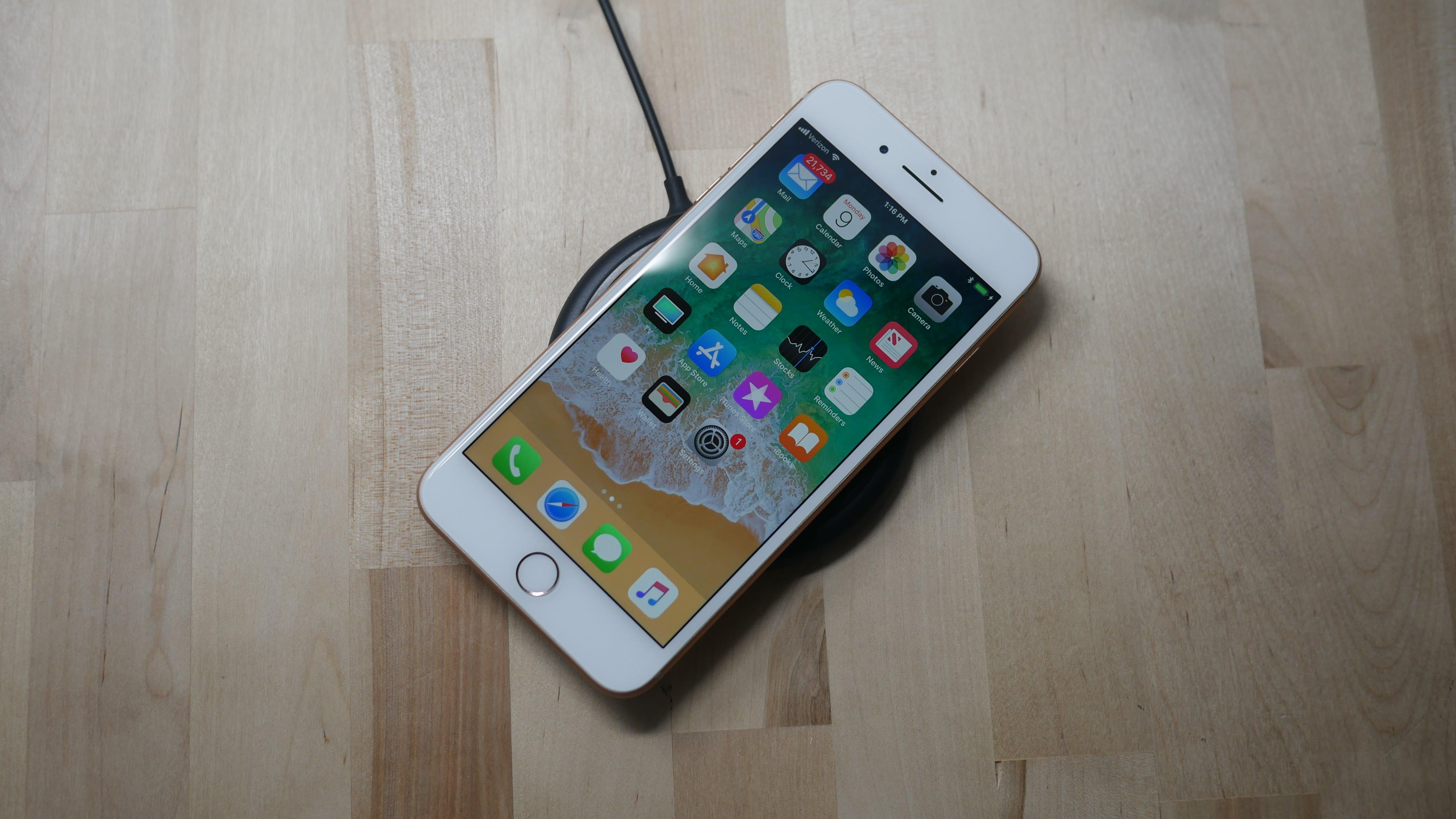 best smartphones 2018 - Apple iPhone 8 Plus front wireless charging