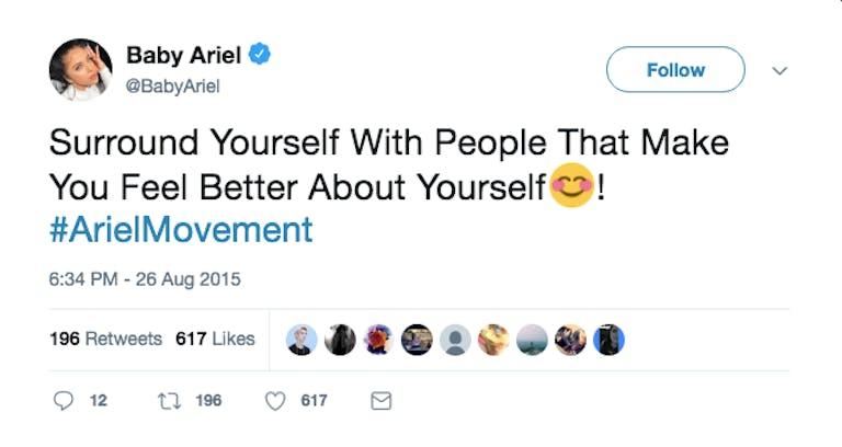 baby ariel twitter