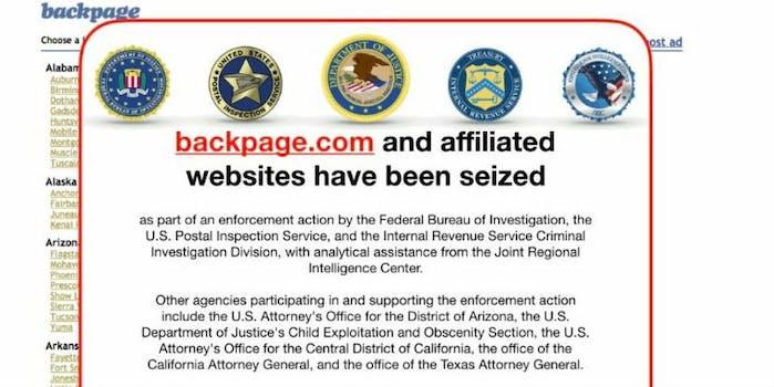 backpage ceased fbi taken down