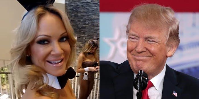 Barbara Moore and Donald Trump