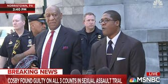 Bill Cosby, who has been found guilty on three charges of sexual assault.