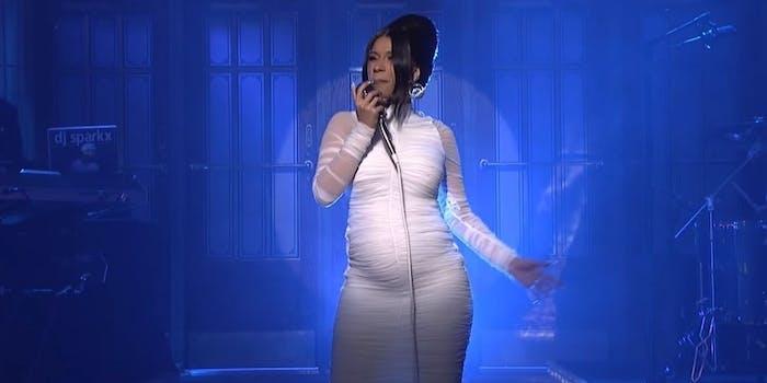 Cardi B Pregnant SNL