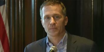 Missouri Gov. Eric Greitens called allegations against him of blackmail and abuse 'a political witch hunt.'