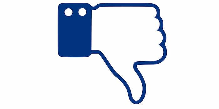 facebook downvote social media