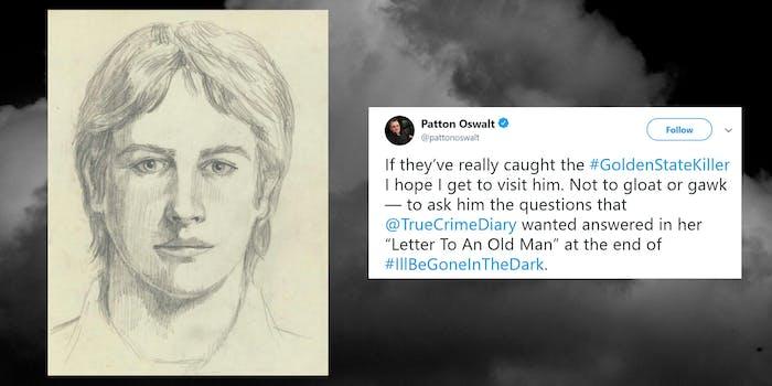 golden state killer FBI sketch with Patton Oswalt tweet