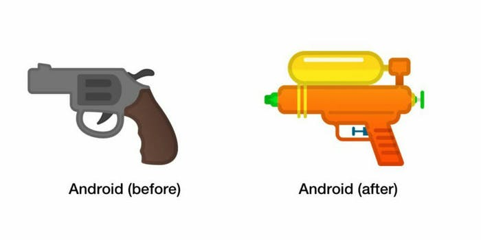 google water gun pistol emoji