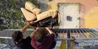How Ridiculous La-Z-Boy trampoline